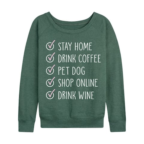 Stay At Home Checklist - Women's French Terry Pullover