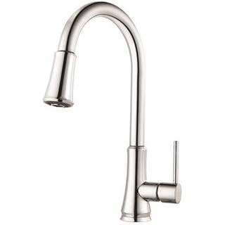 brand price pfister g529 pfcc pfirst series pull down kitchen faucet polished chrome - Price Pfister Kitchen Faucet
