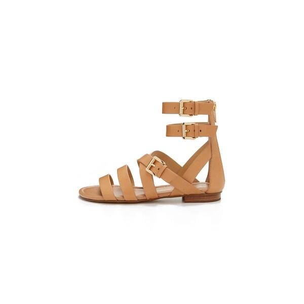 MICHAEL Michael Kors Womens Jocelyn Flat Sandal Leather Open Toe Casual Strap...