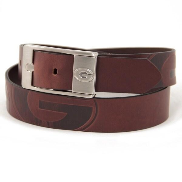 University of Georgia Brandish Leather Belt