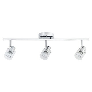 Globe Electric 58777 Halo 3 Light Fixed Rail Ceiling Fixture with Swiveling Head