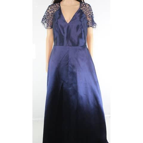 ML Monique Lhuillier Women's Dress Gown Cap Sleeve Lace