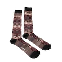 Missoni GM00CMU5241 0004 Burgundy/Black Knee Length Socks - L