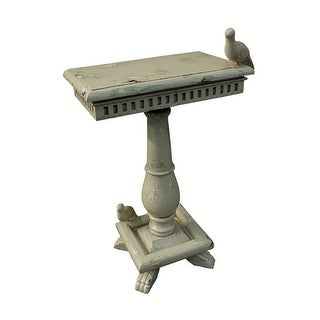 GuildMaster 719067 Socle 20 Inch Wide Wood Accent Table