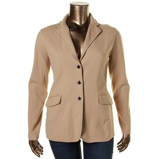 Lauren Ralph Lauren Womens Avelee Three-Button Blazer Ponte Notch Lapel