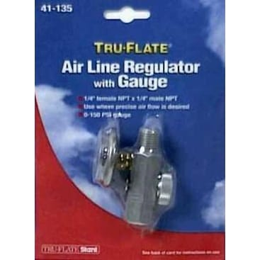 Tru-Flate 41135 Airline Regulator & Gauge - 1/8-27Npt