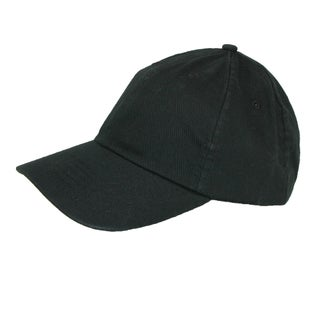 CTM® Cotton Basic Lightweight Baseball Cap (Option: Black)