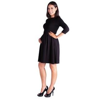24seven Comfort Apparel Maternity Pocket Dress