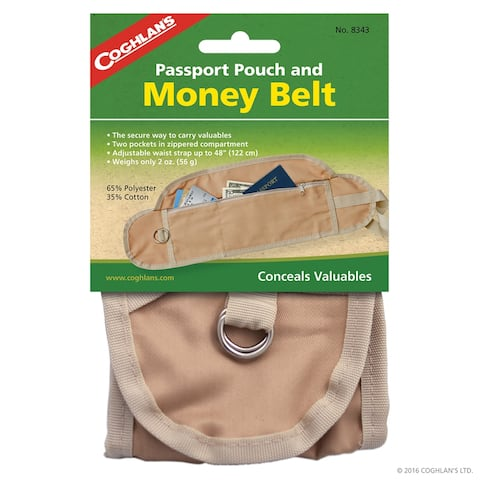 Coghlan's Passport Pouch and Money Belt, Safely Carry Valuables - 18 in.x4.5 in.