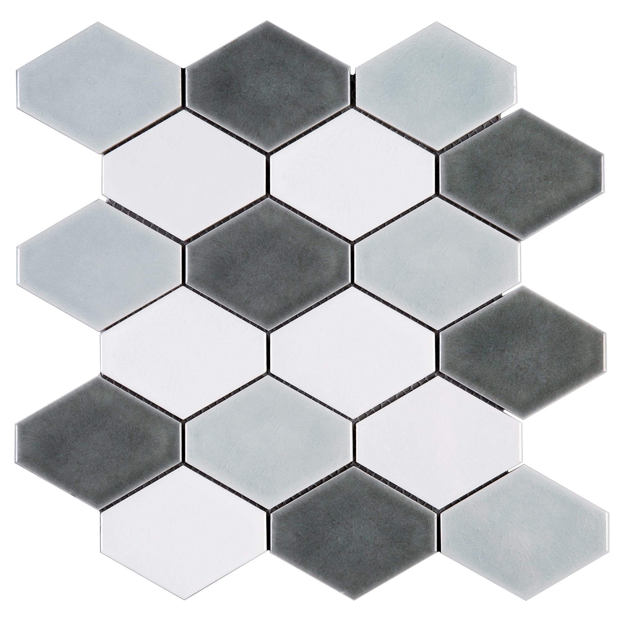 Diamond 4 X Porcelain Mosaic Tile