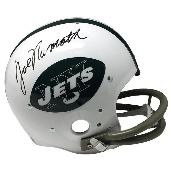 Joe Namath Signed New York Jets Full Size Replica TK Suspension Helmet JSA  ITP 95db081c8