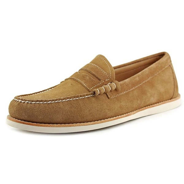 Bass Brogan Men Round Toe Canvas Tan Loafer