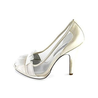 Nina Womens Ellen Satin Peep-Toe Evening Heels - 6 medium (b,m)
