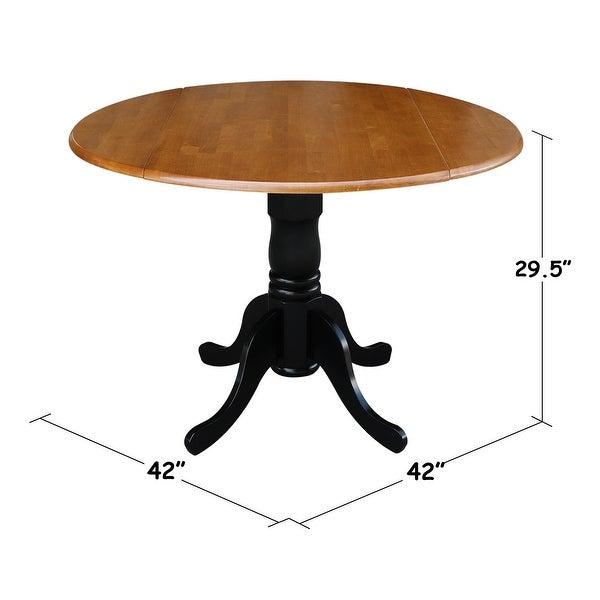 Round 42-inch Drop-leaf Table