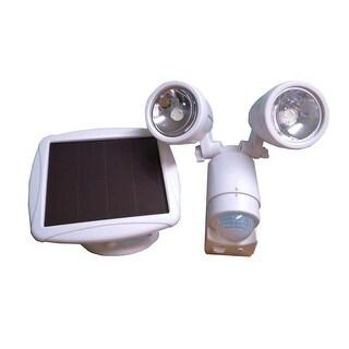 Solar Powered Dual Heads Motion Sensor Security Light Garage Outdoor SMD-LED