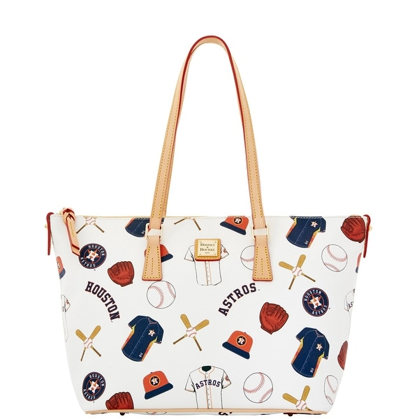 Dooney & Bourke MLB Astros Zip Top Shopper (Introduced by Dooney & Bourke at $248 in Jan 2015) - White