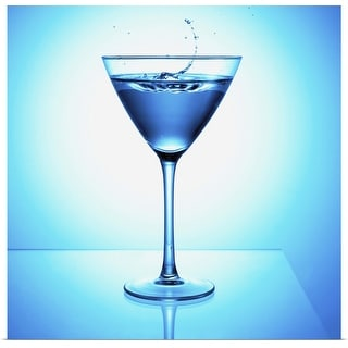 """""""Close up of blue martini cocktail"""" Poster Print"""
