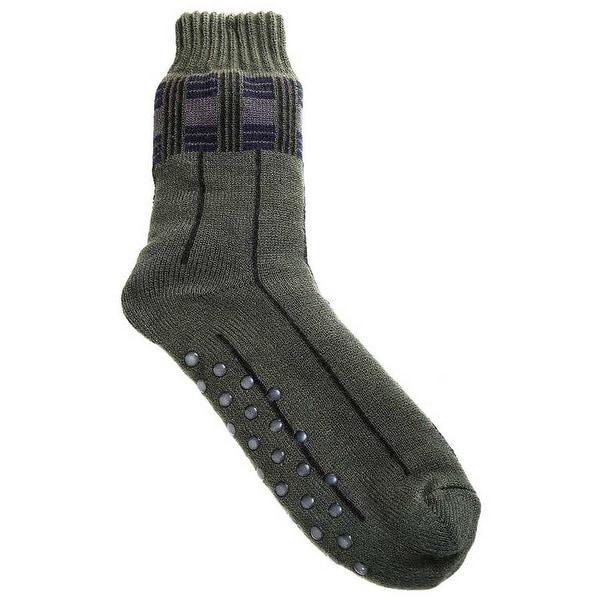 Mad Style Moss Men's Fleece Lined House Socks