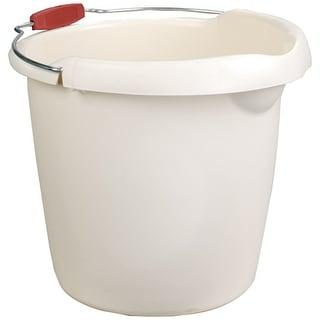 Rubbermaid 296900BISQU Bucket With Wire Handle, 15 Quart