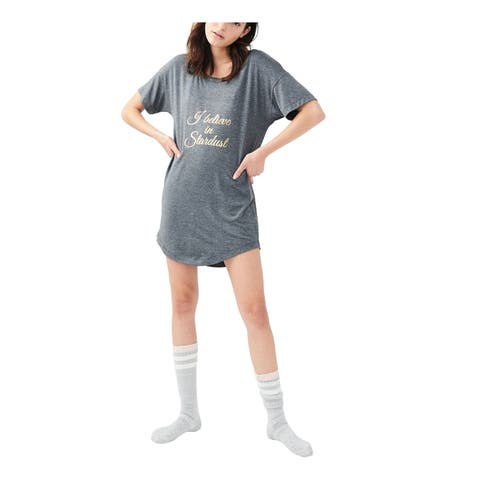 Aeropostale Womens I Believe In Stardust Pajama Sleep T-Shirt