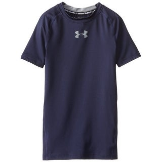 Boys Under Armour 1253815 HeatGear Short Sleeve Fitted Midnight Navy T-Shirt