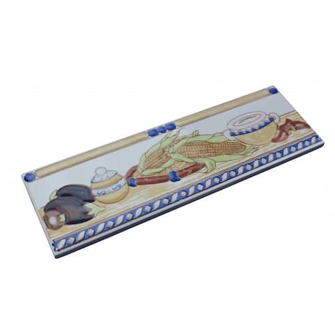 3 x 10 Listello Tile Border Liner Harvest Ceramic