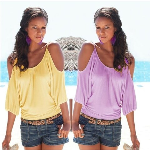 Cut Out Sling Shirt in 2 Colors - Plus Sizes Too