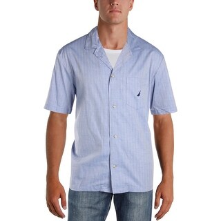 Nautica Sleepwear Mens Sleep Shirt Cotton Woven - XL