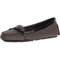 MICHAEL Michael Kors Womens Bryce MOC Leather Square Toe Loafers
