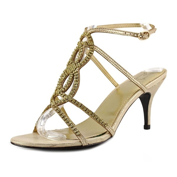 M by Marinelli Twinkle Women Open Toe Synthetic Gold Sandals