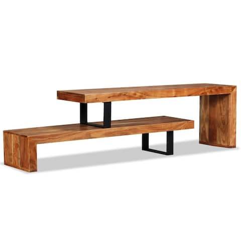 vidaXL TV Stand Solid Acacia Wood