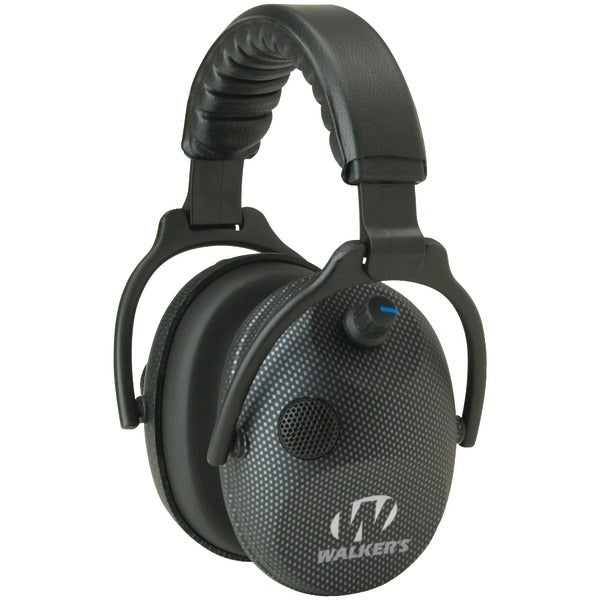 Walkers Game Ear Gwp-Amcarb Alpha Power Muffs With Microphone (Carbon Graphite)