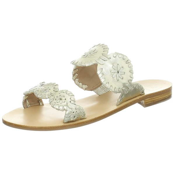 Jack Rogers Womens Lauren Open Toe Casual Slide Sandals