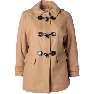 MICHAEL Michael Kors Womens Plus Duffle Coat Wool Blend Hooded (2 options available)