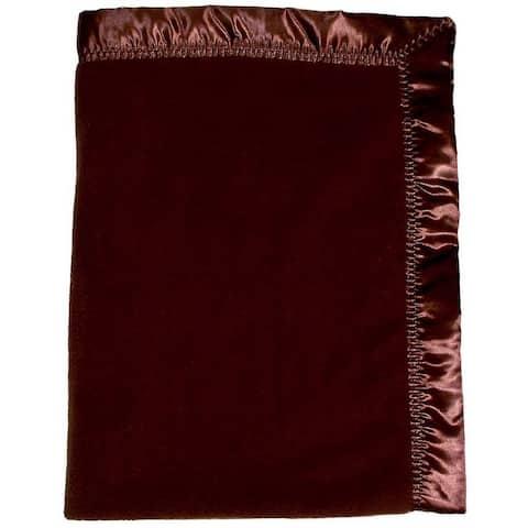 """Raindrops Baby Boys Fleece Unisex Crib Blanket, Chocolate, 36"""" X 52"""" - One Size"""