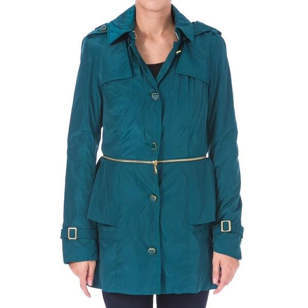 Betsey Johnson Womens Anorak Jacket 2-in-1 Peplum