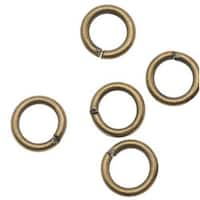 Antiqued Brass Open Jump Rings 6mm 18 Gauge (x100)
