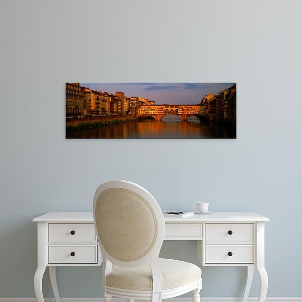 Easy Art Prints Panoramic Images's 'Ponte Vecchio Arno River Florence Italy' Premium Canvas Art