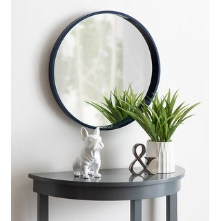 Link to Kate and Laurel Travis Round Wood Accent Wall Mirror Similar Items in Mirrors