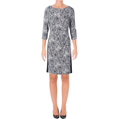 Lauren Ralph Lauren Womens Wear to Work Dress Gathered Sheath