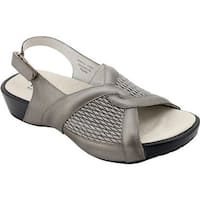 Propet Women's Madeline Pewter Leather