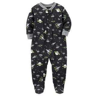 Carter's Little Boys' 1-Piece Space Fleece PJs, 5 Kids