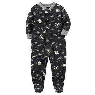 Carter's Little Boys' 1-Piece Space Fleece PJs, 6 Kids
