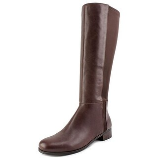 Nine West Selena Women  Round Toe Leather Brown Knee High Boot