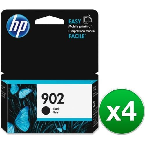 HP 902 High Yield Black Original Ink Cartridge (T6L98AN) (4-Pack)