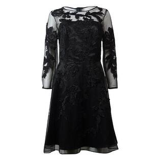 Decode 1.8 Women's Mesh Overlay Dress - Black|https://ak1.ostkcdn.com/images/products/is/images/direct/f7be908be915a05b0eb995437e7678108a72ee6d/Decode-1.8-Women%27s-Mesh-Overlay-Dress.jpg?impolicy=medium