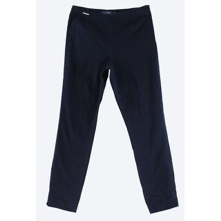 Polo Ralph Lauren NEW Blue Womens Size 10 Side-Zipper Ankle Pants