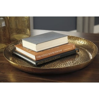 Link to Morley Contemporary Antique Brass Metal Tray Similar Items in Serveware