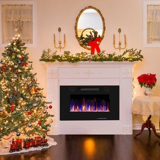 Link to Electric Fireplace Recessed Wall Mounted Fireplace Heater Similar Items in Fireplaces