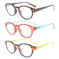 Eyekepper Womens Reading Glasses 3 Pack With comfort Spring Arms and Clear Vision +2.75